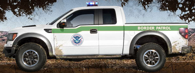 Ford Raptor US Border Patrol Truck