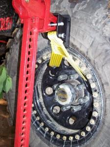 jack truck by wheel