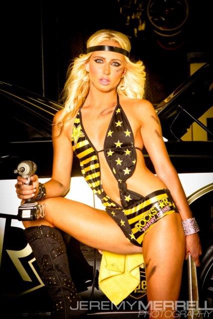 New Chevy Trucks >> Girls at Rockstar Garage Photoshoot - Socal Prerunner ...
