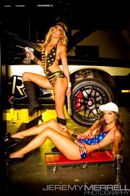 Girls At Rockstar Garage Photoshoot Socal Prerunner